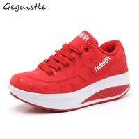 Women Casual Shoes New Arrivals Breathable Waterproof Wedges Platform Fashion Shoes
