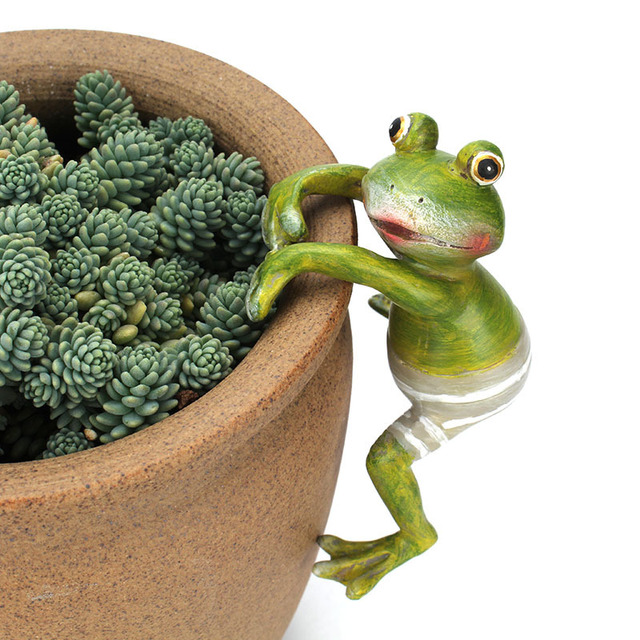 Bonsai Outdoor Garden Decorative Creative Climbing Frogs Decor