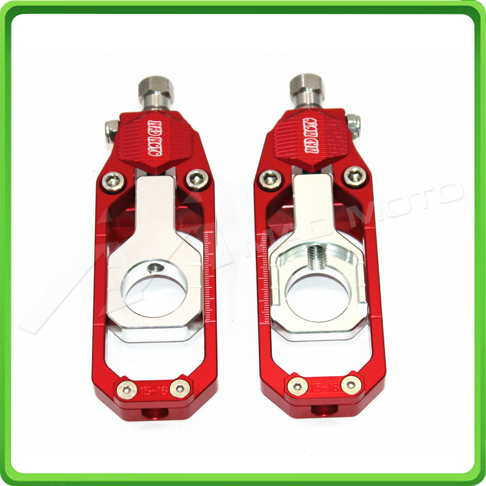 Motorcycle Chain Tensioner Adjuster fit for APRILIA RSV4 2009 2010 2011 2012 2013 2014 Red & Silver motorcycle cnc chain adjusters tensioners with spool fit for aprilia rsv4 2010 2014 2010 2011 2012 2013 2014 10 11 12 13 14