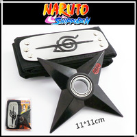 Naruto forehead with + rotating shuriken,Bearing rotating darts,Anime weapon model toys, toy knife, gifts for children.