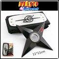 Shuriken Naruto testa com + rotação, dardos de rotação do rolamento, Anime arma modelo brinquedos, faca de brinquedo, presentes para as crianças.