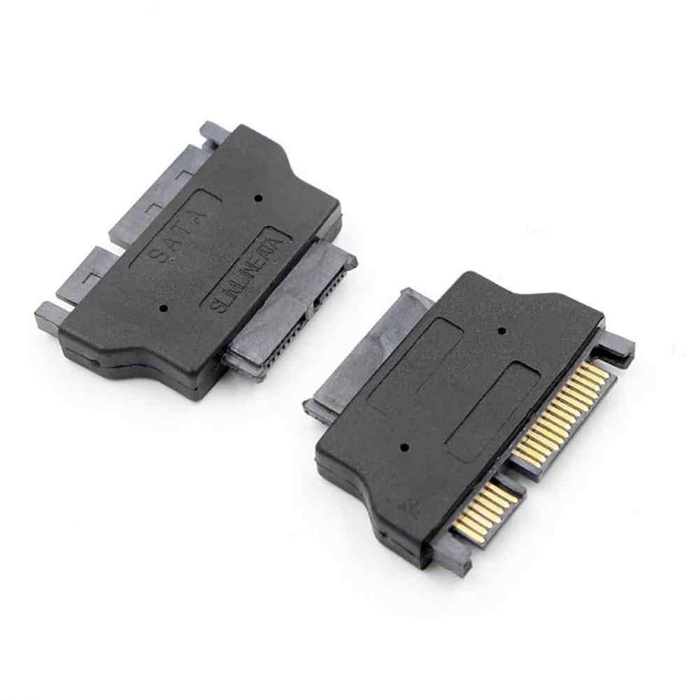 Venta caliente adaptador SATA Serie ATA 7 + 15 22pin macho a Delgado 7 + 6 13pin adaptador hembra para disco Duro HDD CD-ROM para ordenador portátil de escritorio