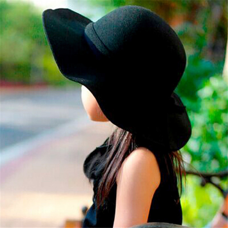 c2c60f81 Girls Vintage Retro Kids Child Hats Polyester Felt Crushable Wide Brim  Cloche Floppy Sun Beach Cap Baby Accessories Hat Kids-in Hats & Caps from  Mother ...