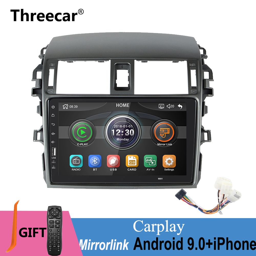 IPhone Android 9.0 um din Rádio Mirrorlink E140 MP5 Bluetooth Car Multimedia Player Para Toyota Corolla/150-2008 2013 No Android
