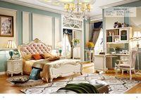 Роскошный европейский и американский стиль наборы мебели для спальни мебель для спальни Китай Делюкс шесть Костюм из нескольких предметов