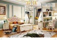 luxury European and American style bedroom furniture sets bedroom furniture china Deluxe six piece suit