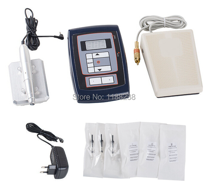 High Quality Tattoo Machine Kits Digital Permanent Makeup Eyebrow&Lip Pen+30 Free Needles+ LCD Power Supply Free Shipping цена 2017