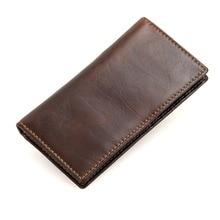 Genuine Leather Wallet Male Coin Purses Pocket Card Holder Slim Wallet for Credit Cards Men Brand Long Pockets 2019 New Brand