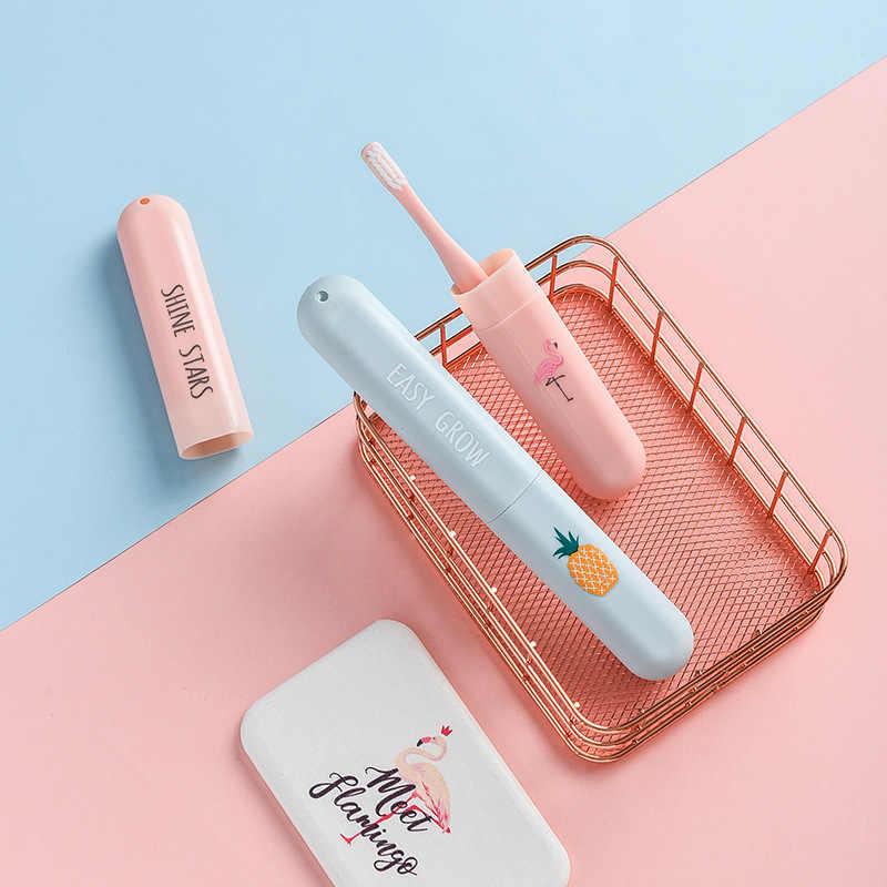 1 pc titular caixa de armazenamento escova de dentes portátil viagem caminhadas acampamento toothrush tampa caso saúde proteger organizador de armazenamento do banheiro
