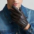 NUEVO Cuero de invierno guantes de piel de oveja caliente Guantes Guantes de hombres guantes De Cuero simple evitar el frío al aire libre para los hombres envío gratis