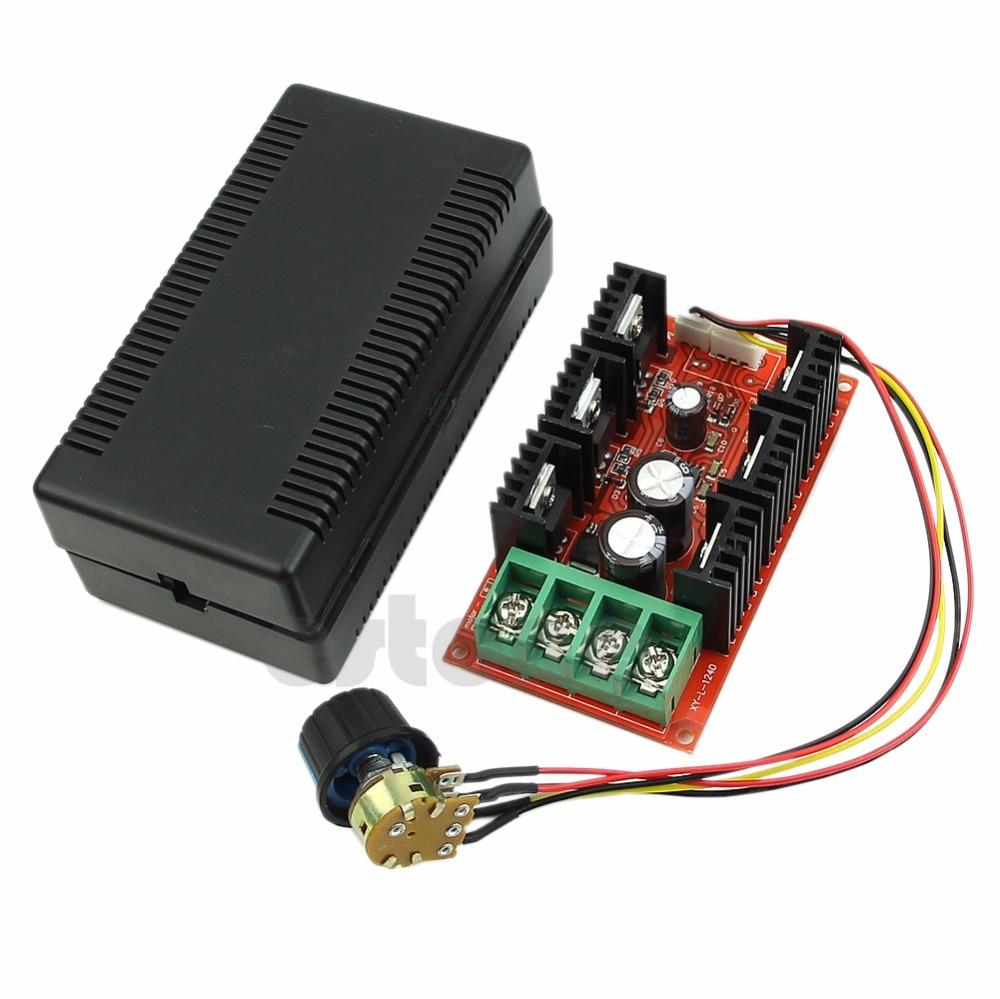 12V 24V 48V 2000W MAX 10-50V 40A DC Motor Speed Control PWM HHO RC Controller стоимость