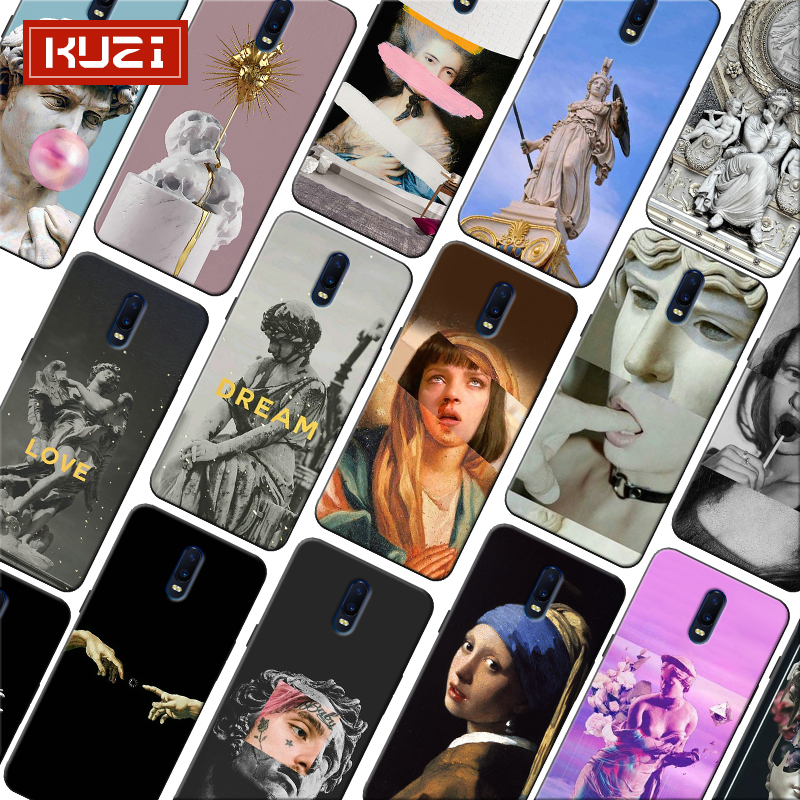 Vintage Plaster Statue David Art Printing Soft Silicone Phone Case for font b oneplus b font