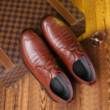 Formal Oxford Shoes For Men Comfortable Fashion Business Black Brown Split Leather Casual Sneakers