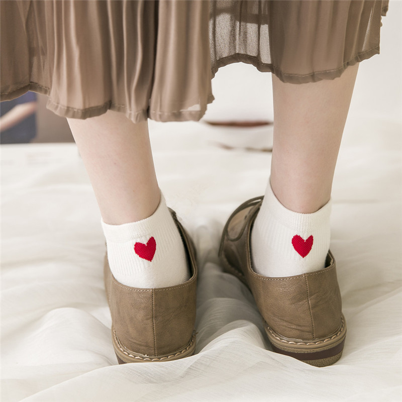 Heart Cute College Wind Simple Female   Sock   Warm Comfortable Cotton Spring And Summer Girl Funny Women   Socks   2019
