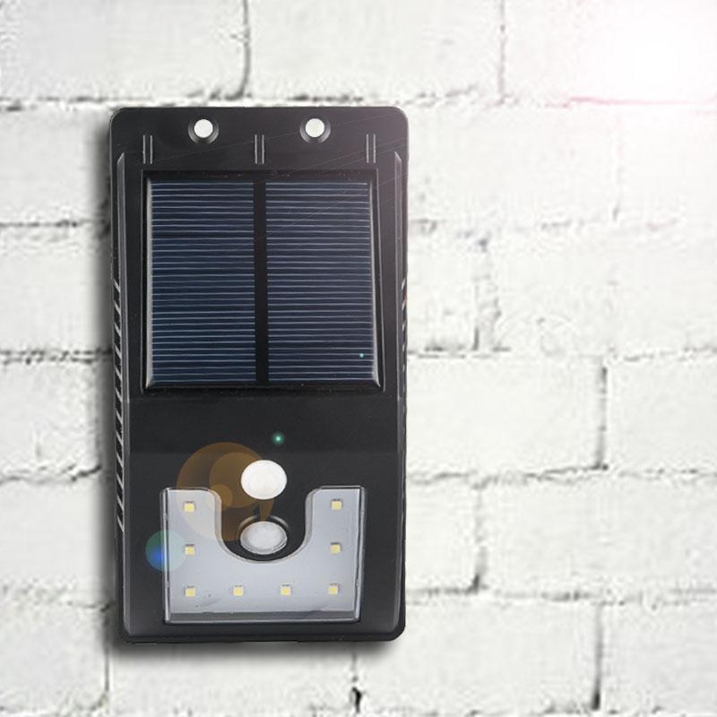 Solarlampen 16 Led Wasserdicht Solarbetriebene Pir Bewegungserkennung Sensor Wandleuchte Outdoor Garten Pathway Balkon Veranda Sicherheit Licht Lampe SchöN In Farbe