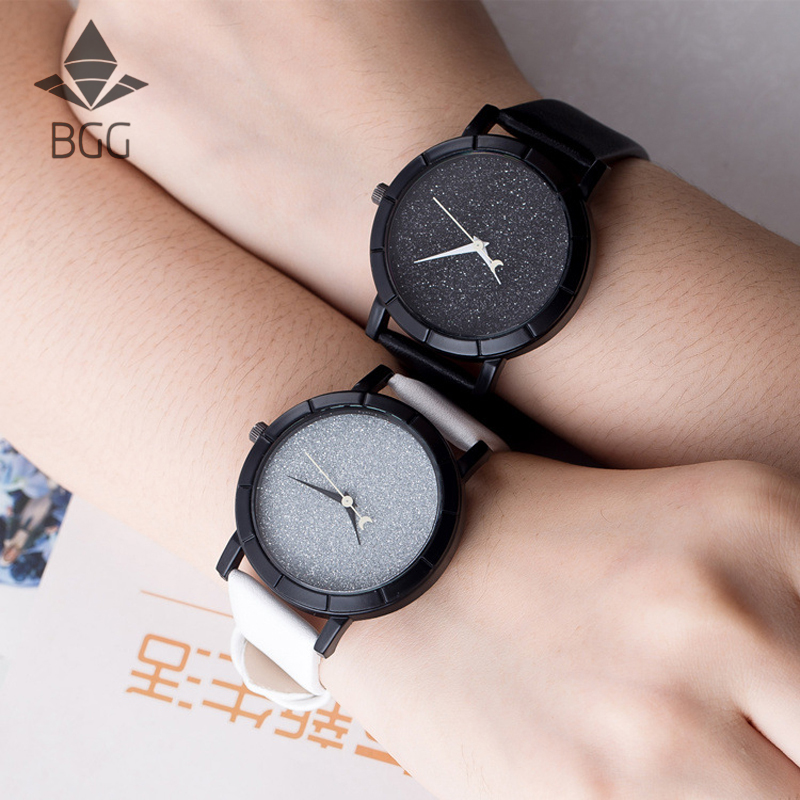 Cute Moon Stars Design Analog Wrist Watch Women Unique Romantic Starry Sky dial Casual Fashion quartz watches Woman Girl Gift women with silicone watches fashion women round dial quartz analog wrist watch casual coloful design girls gift branded ladies page page 4