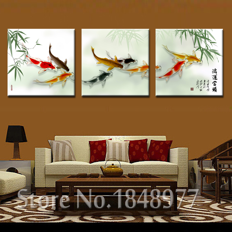 3 Pieces Coudros Home Decoration Printed On Canvas Wall ...