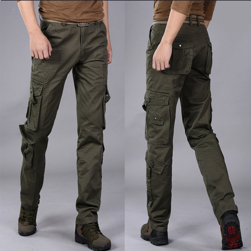 Sports-Pants Overalls Military Multi-Pocket Men's Camouflage Casual Fashion Black Outdoor