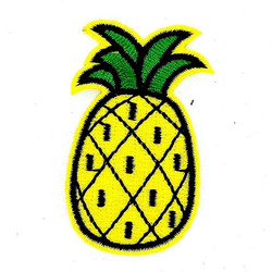 2 Pcs Mignon Jolie ananas fer sur les patchs pour les vêtements Coudre-sur Fruits brodé patch motif applique affaire avec il vêtements