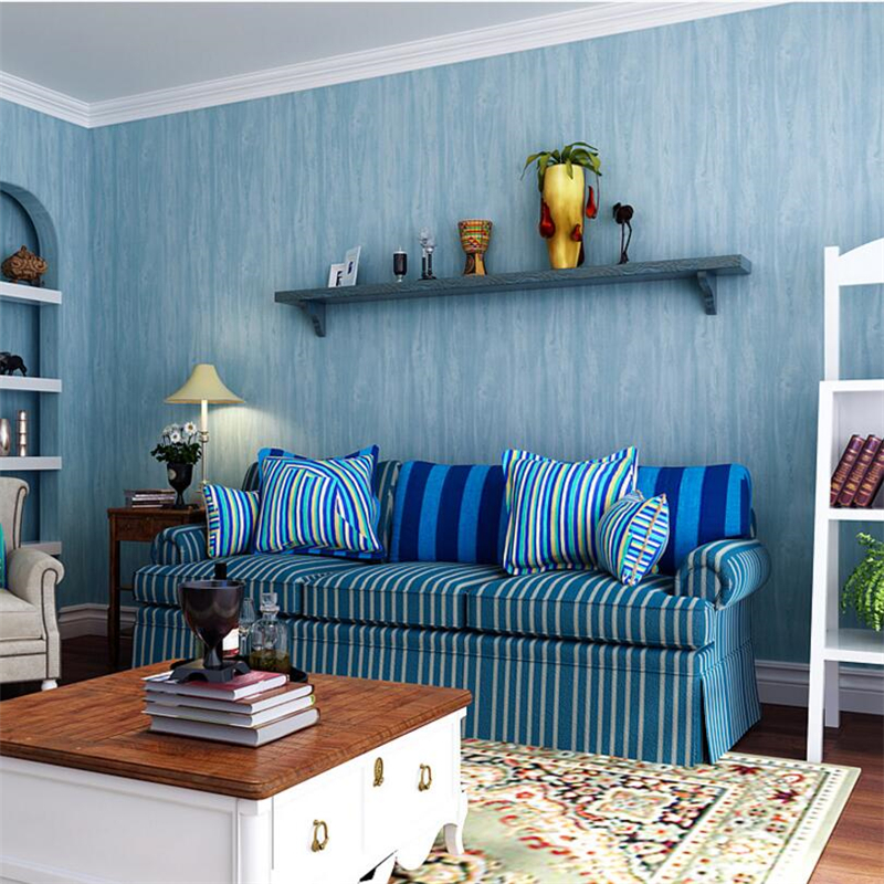 American countryside Mediterranean anti-wood grain non-woven wallpaper bedroom living room background wallpaper papel de pare junran america style vintage nostalgic wood grain photo pictures wallpaper in special words digit wallpaper for living room