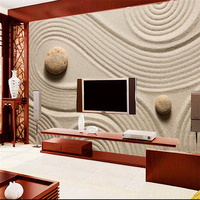 Large Custom Wallpaper Mural 3d Photo Wallpaper HD 3D Gray Pebble Beach Sand Background Wall Paper