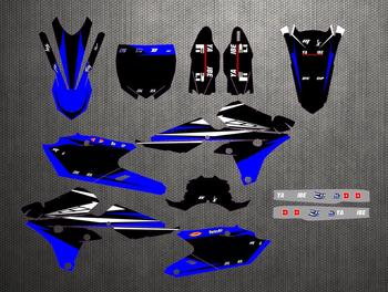 Full set Sticker Kit Customized Number For Yamha YZF250F YZF250FX YZF 250 F / FX 450 YZF450 YZF450F Graphics Backgrounds Decals