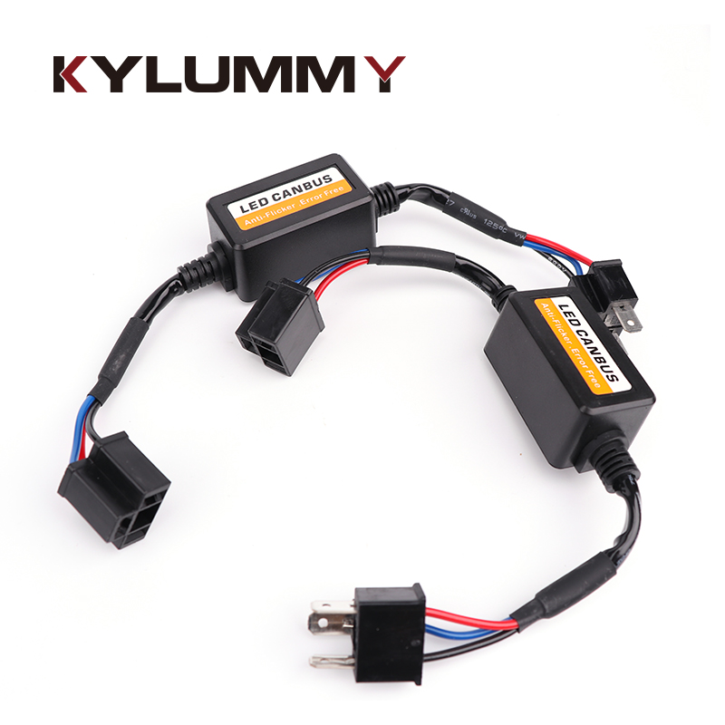 Car LED Headlight Decoder Resistor Canbus Error Free Anti Flicker Radio interferent solution Harness Adapter for H1 H3 H4 H7 H11 2pcs lot light decoder h11 led headlight canbus error free anti flicker resistor canceller decoders plug in play for bmw vw