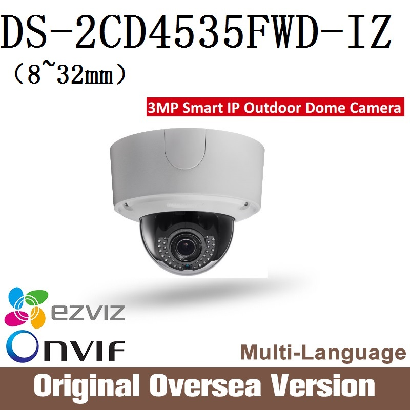 HIKVISION DS-2CD4535FWD-IZ 8-32mm IP Camera 3MP Smart IP Outdoor Dome Camera POE 40M IR DC12V POE IP66 Upgrade Security сетевая ip камера hikvision ds 2de2204iw de3 2 8 12 мм