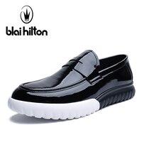 Blai Хилтон весна/осень Роскошные Мокасины Для мужчин модные мокасины из натуральной кожи повседневная обувь водонепроницаемые слипоны для