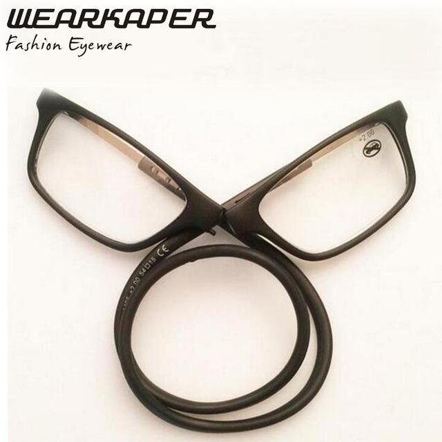WEARKAPER Flexível Pescoço Elástico Titular Homens Mulheres Oculos de grau Óculos de Leitura + 1.0 + 1.5 + 2.0 + 2.5 + 3.0 + 3.5