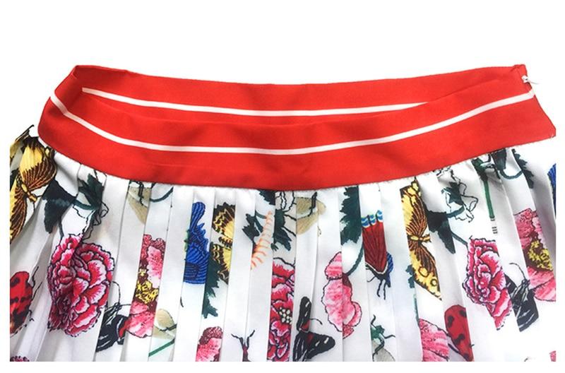 De longueur Top Costume Imprimé Manches Genou Rabattu 2 2018 Européen Longues Pièce Nouveau Ensembles Femmes Col Printemps À Floral Style Jupe qxF6XwaY