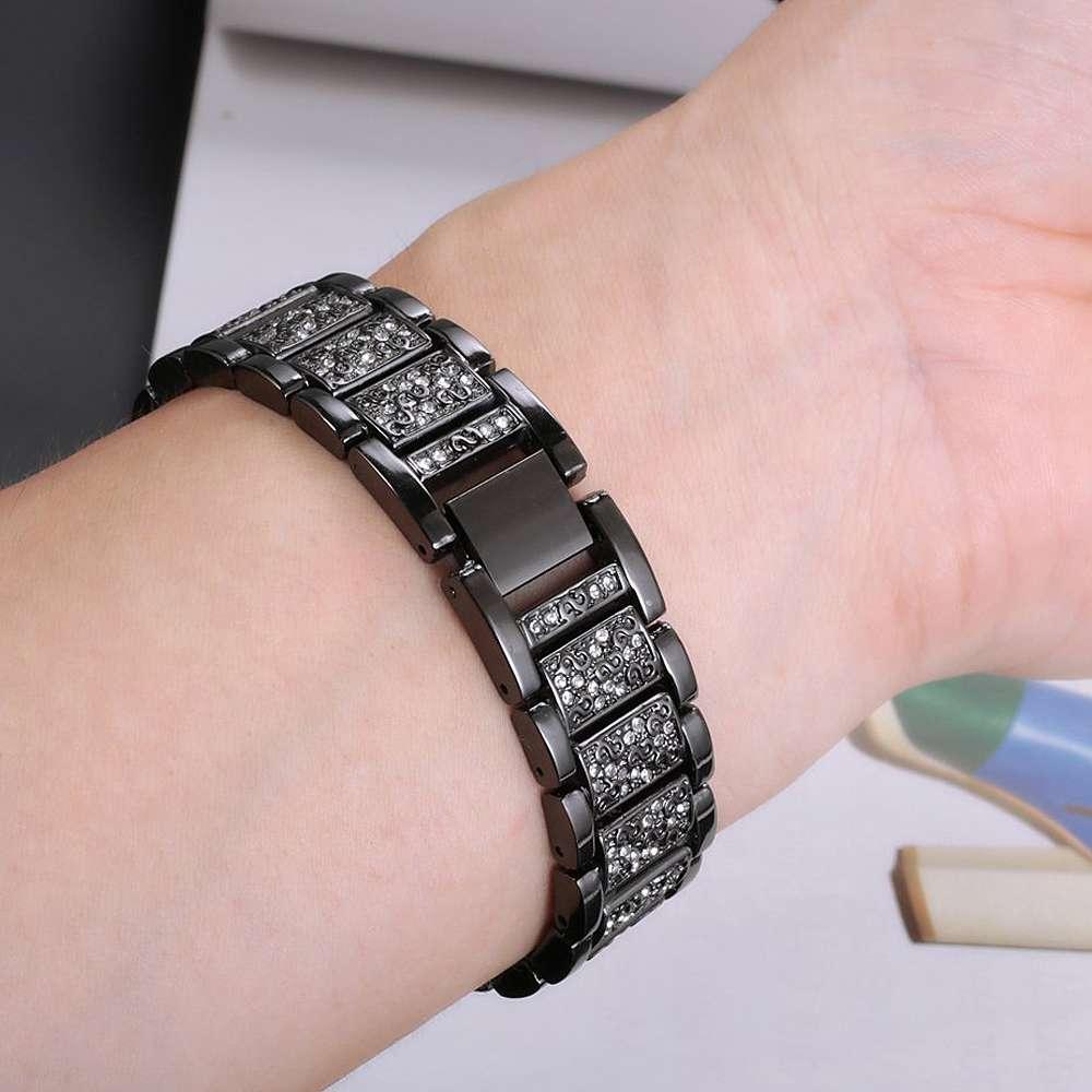 strass bling bandas ajustável pulseira para garmin