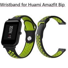 Wristband Sport Smart Band 20mm Silicone Strap for Xiaomi Huami Amazfit Bip Bit Watchband Wrist Strap Bracelet Belt Replacement цена в Москве и Питере