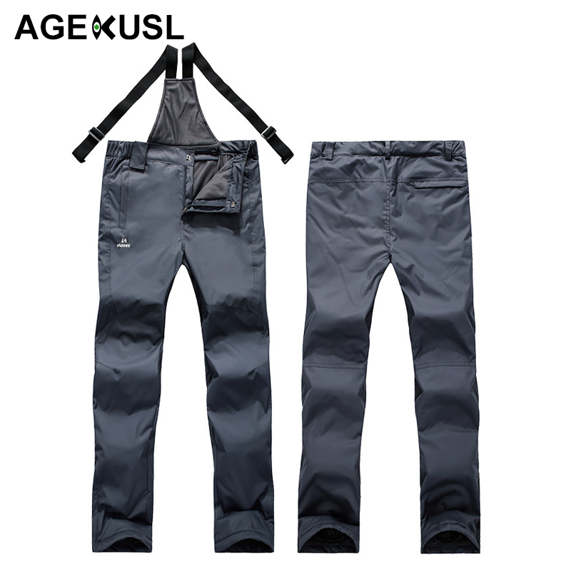 AGEKUSL Men Women Skiing Snowboarding Bibs Pants Waterproof Windproof Thermal Sports Trousers Winter Snow Hiking Ski Skate Pants 2018 new lover men and women windproof waterproof thermal male snow pants sets skiing and snowboarding ski suit men jackets