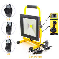 Freies verschiffen 50W Led Tragbare Spotlight Work Licht Akku Outdoor Flut Lampe Jagd Camping Laterne Taschenlampe
