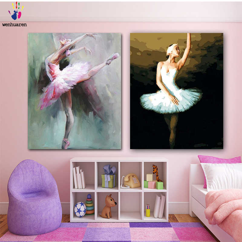 DIY colorings pictures by numbers with colors balletpicture drawing painting by numbers framed Home