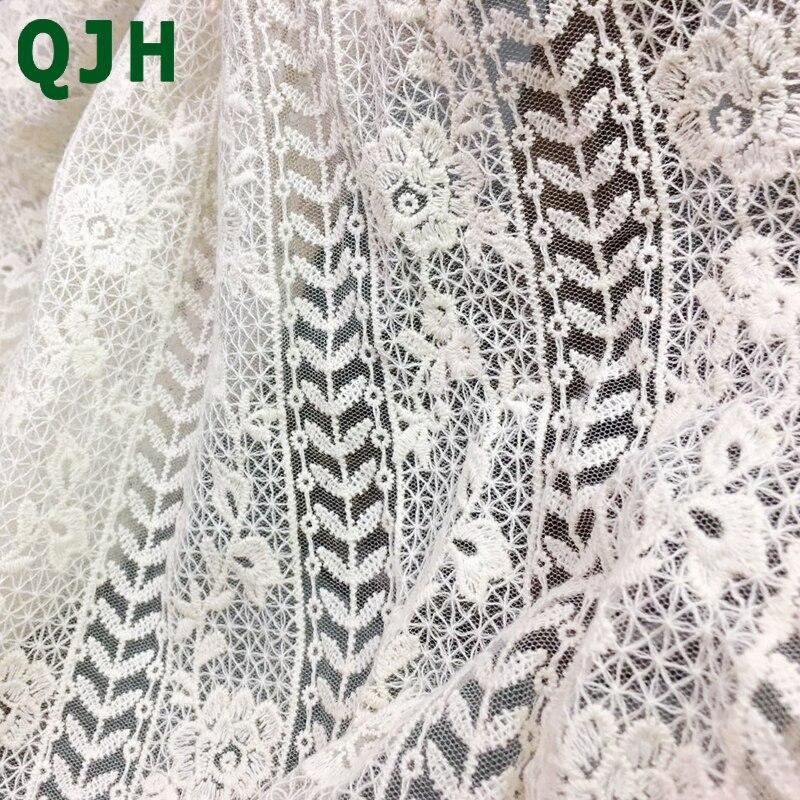 Yard qjh white retro cotton thread embroidery lace