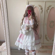 Летнее платье в стиле Лолиты; Шифоновое с клубничным принтом;