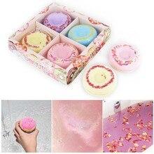 Bath Bombs Gift Set 4 Packs Natural Donut Bath Spa Kit Handmade Organic Spa Bomb Ideal Gift for Women, Men, Girls цена