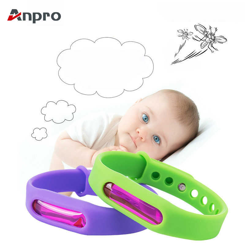 Anpro Anti Mosquito Capsule Pest Insect Bugs Control Mosquito Repellent Bracelet with Plant Essential Oil for Baby Children