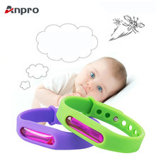 Anpro Anti Mosquito Capsule Pest Insect Bugs Control Mosquito Repellent Bracelet with Plant Essential Oil for Baby Children(China)