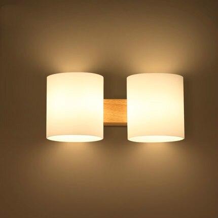 Quercia Moderna Lampada Da Parete in legno Luci Per Camera Da Letto ...