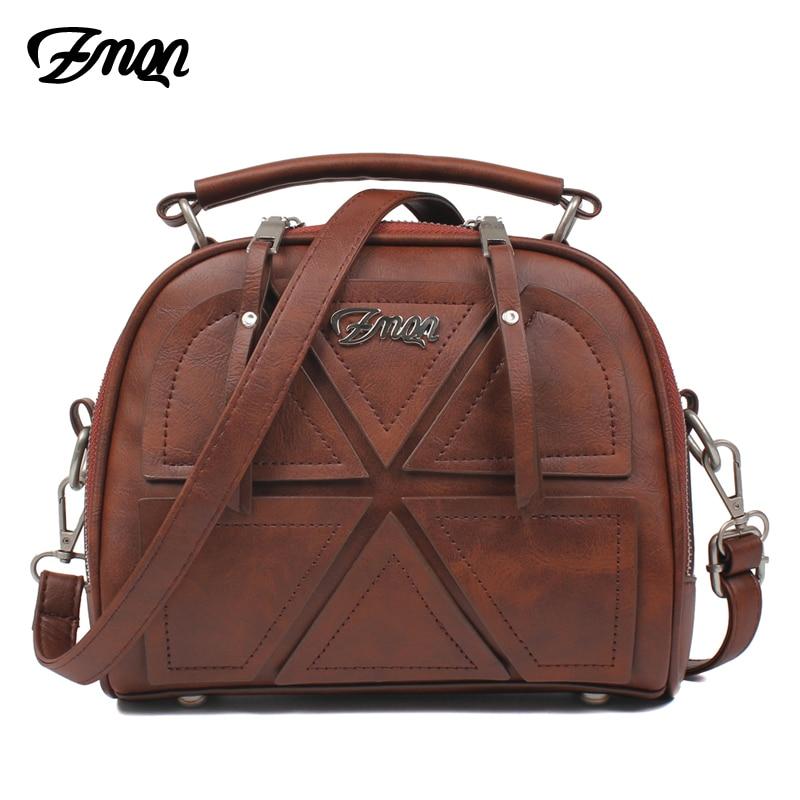 ZMQN Frauen Messenger Taschen Berühmte Marke 2018 Vintage Retro Frauen Umhängetasche Kleine PU Leder Handtaschen Für Frauen Spleißen A523