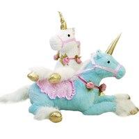 1 шт. 100 см 3 вида цветов Симпатичные Единорог Лошадь плюшевые Игрушечные лошадки огромное чучело куклы пони реквизит для детей творческие по...