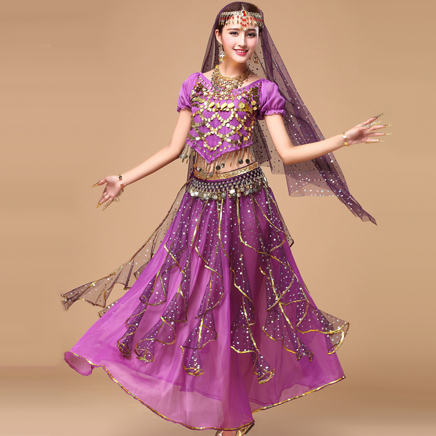 Aliexpress.com : Buy 2017 Bollywood Dance Costumes 5pcs ...