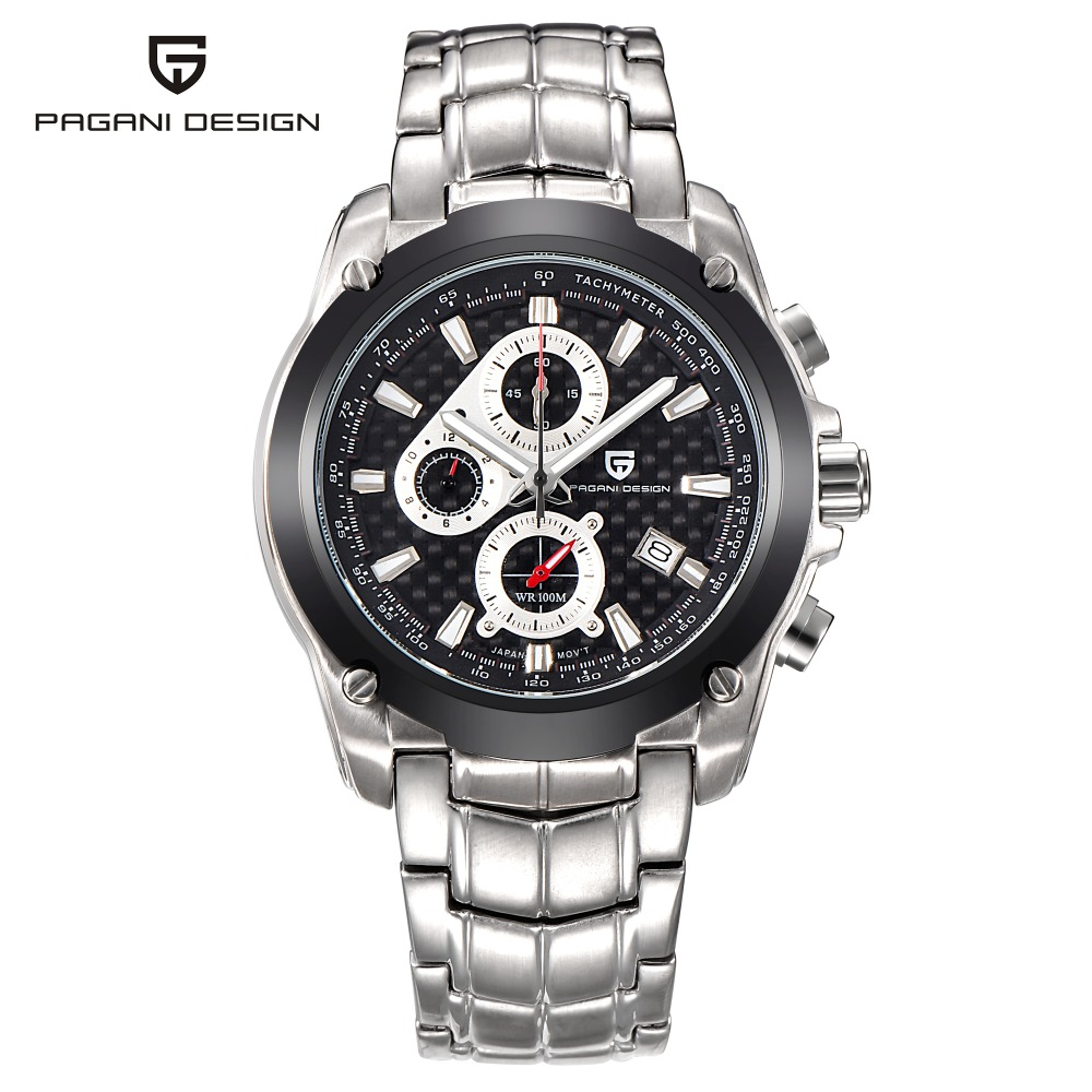 Relogio Masculino PAGANI DESIGN Mens Watches Fashion Business Sport Quartz Watch Dive Male Clock Chronograph Military Wristwatch pagani design business casual leather men s watches fashion sport utility chronograph military watches relogio masculino 2016