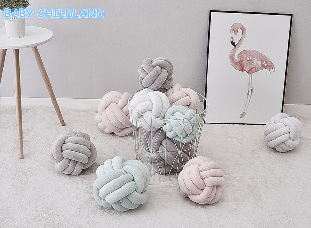 Creative Baby Pillow Ins Room Decor Handmade Soft Knot Nursery Decoration Cushion