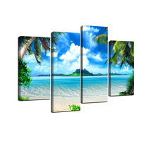 Canvas Wall Art Ocean Painting Nature Pictures Canvas Arotwork Mountrain Sunset Scenery Wall Art for Home Office Decoration