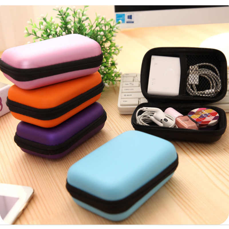 Rectangle Storage Bag Mobile Phone Data Cable Charger Fingertips Package Zipper Bag Portable Zip Lock Organizer Case Storage Box