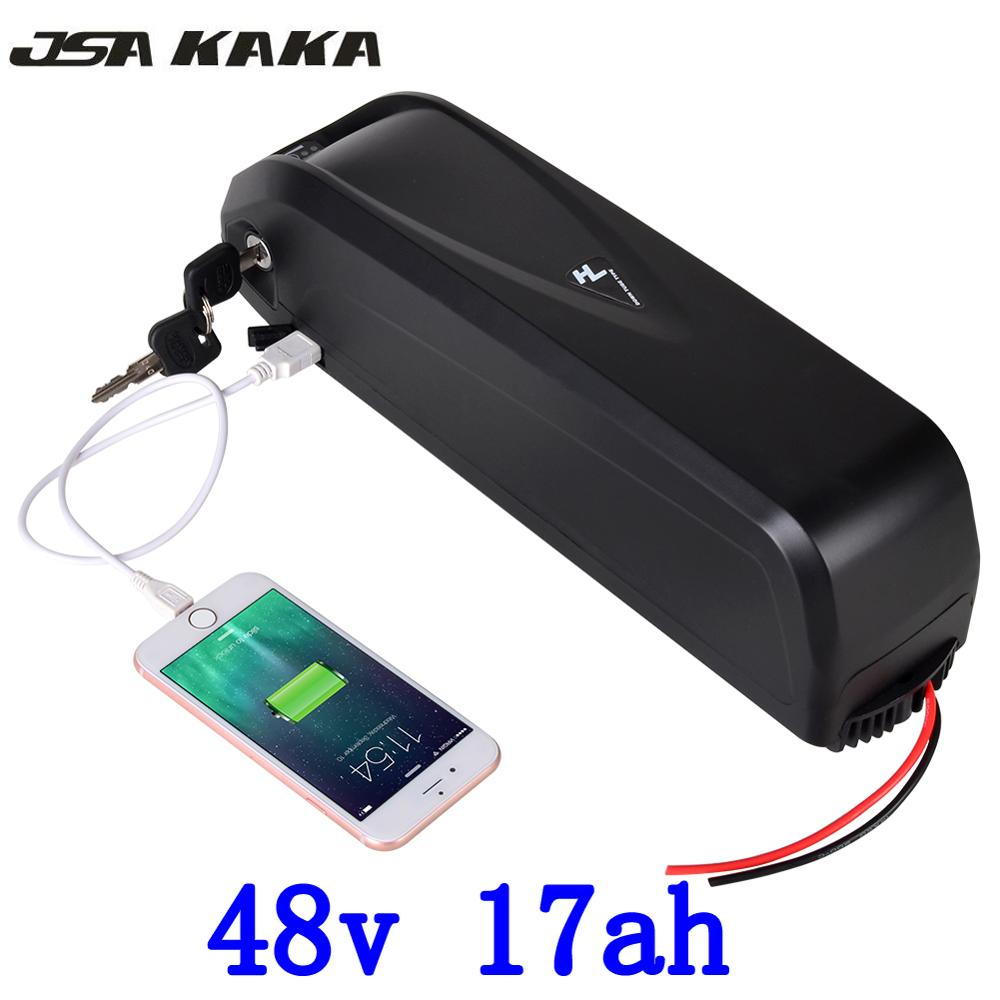 US EU No Tax New Hailong E-Bike Battery 48V 17Ah Lithium ion Battery with 30A BMS for 750W BBS02 1000W BBSHD Bafang Motor цена